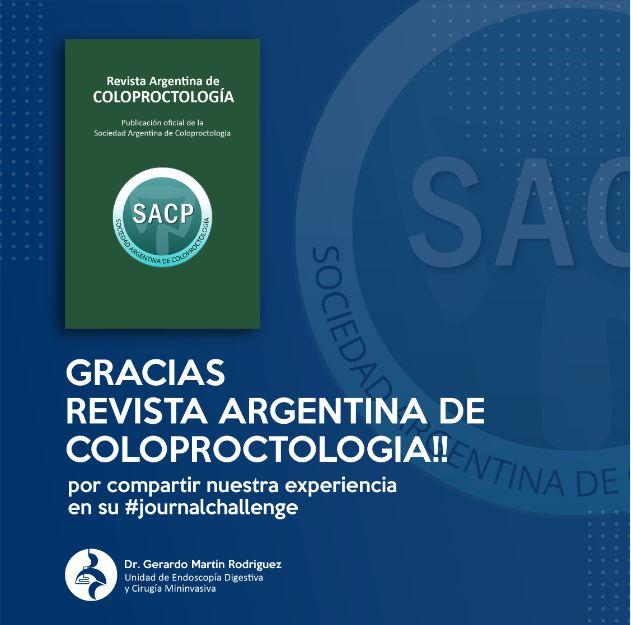 #journalchallenge Revista Argentina de Coloproctologia